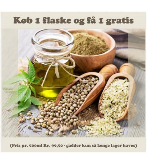 Økologisk Koldpresset Hamp Olie 500ml. - Dansk dyrkede frø (Mht. 08/2021)