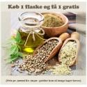 Efterårskampagne: Køb 1 og få 1 Gratis Økologisk Koldpresset Hamp Olie 500ml. (Mht. 04/2022)